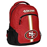 FOCO NFL San Francisco 49ers Action Backpack, Team Color, One Size