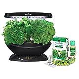 AeroGarden 7 LED Indoor Garden with Gourmet Herb Seed Kit (Color: Black, Tamaño: 7-Pod)