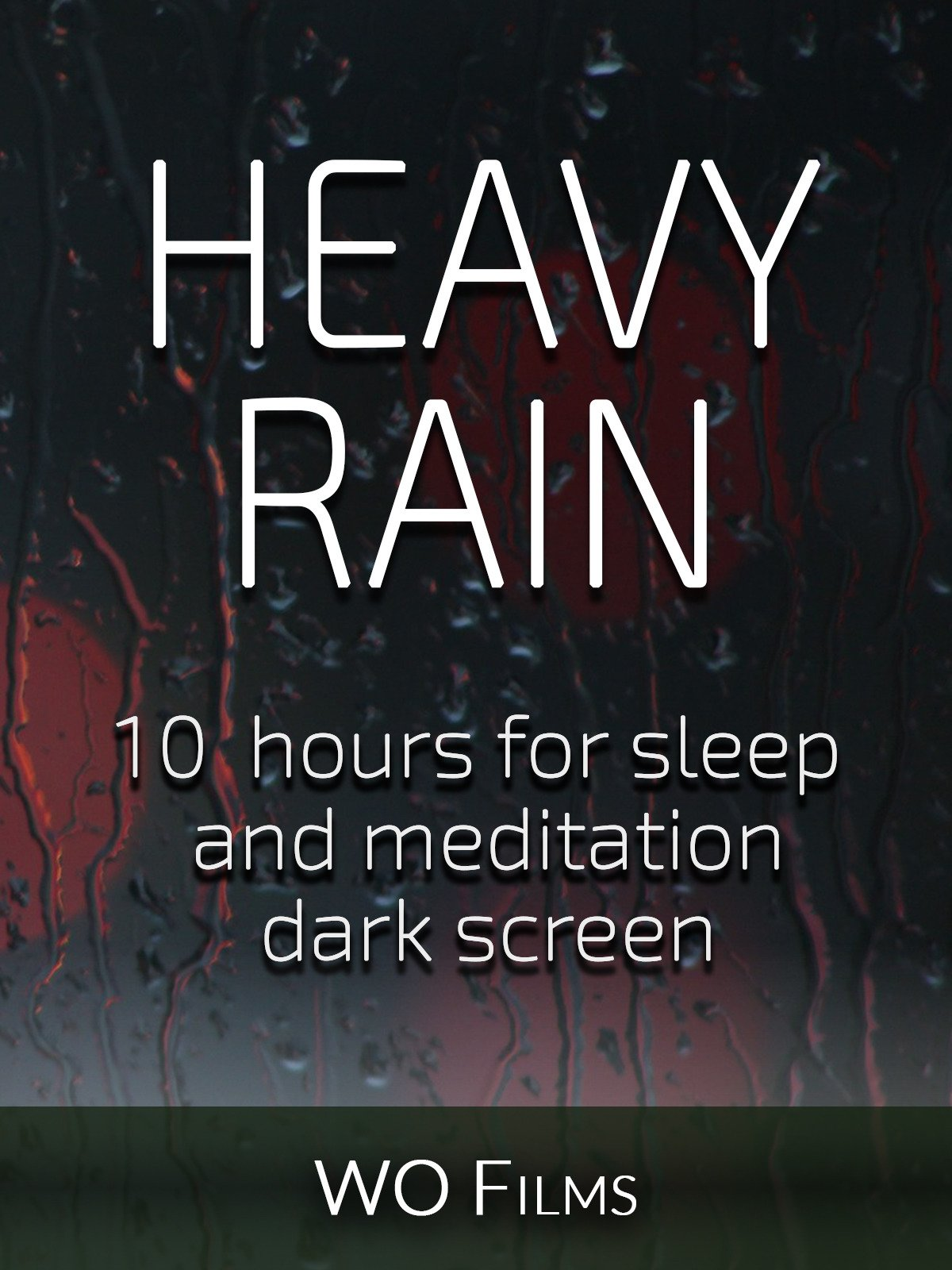 Heavy rain, 10 hours for Sleep and Meditation, dark screen