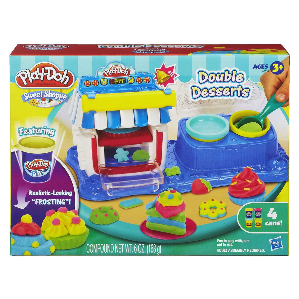 play doh sweet shoppe double desserts playset toys games. Black Bedroom Furniture Sets. Home Design Ideas