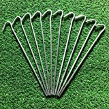 "10 Heavy Duty Tent pegs. Ideal for Tents, netting, gardening etc. 9""/23cm"