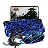 Zhengfangfang Wired Keyboard and Mouse Set Lighting Game Backlight Mechanical Mouse and Keyboard Computer Set - Three Color Crack Keyboard