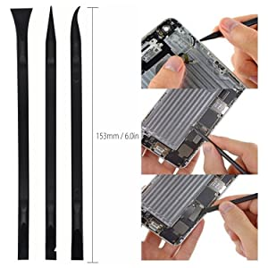Pry Tool Kit, E.Durable Safe Non-Nylon and Ultrathin Steel Screen Opening Spudger Tool Repair Kit for Cell Phone, LCD, MacBook, Ipad, iPod, Tablet and More (Color: Pry Opening Kit, Tamaño: ED-P05)