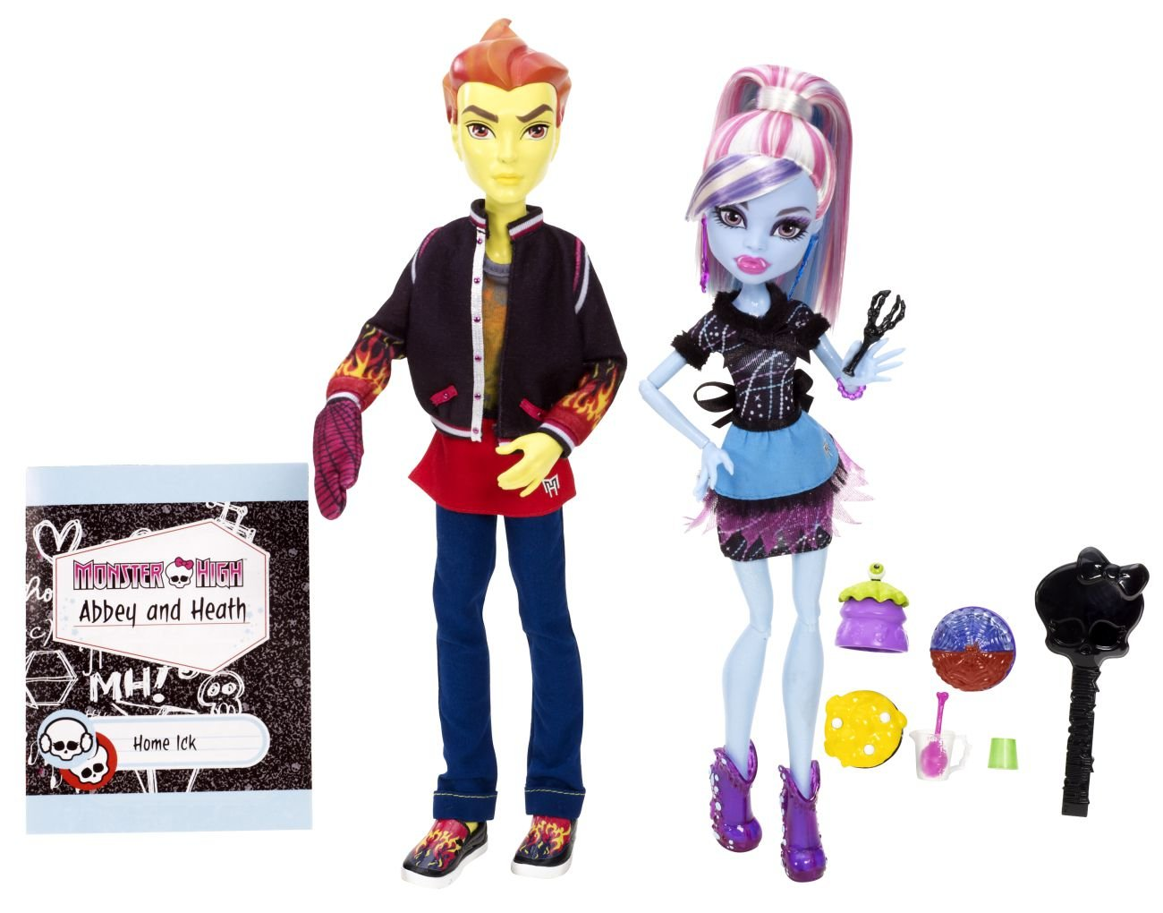 Monster High Ick Abbey Bominable and Heath Burns Doll 2-Pack