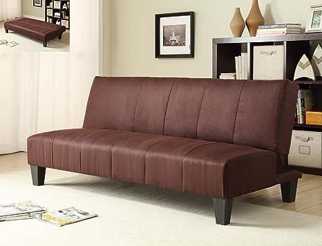 Milton Greens Stars Winchester Microfiber Click-Clack Sofa Bed, Dark Brown