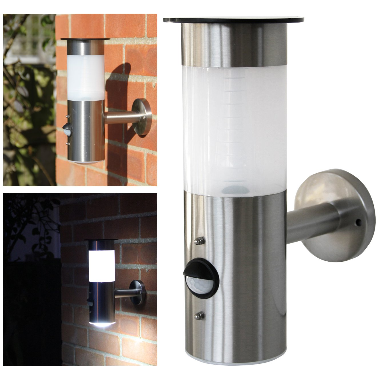 Solar Lights For Brick Wall : Frostfire Solar Wall Light with PIR Motion Sensor eBay