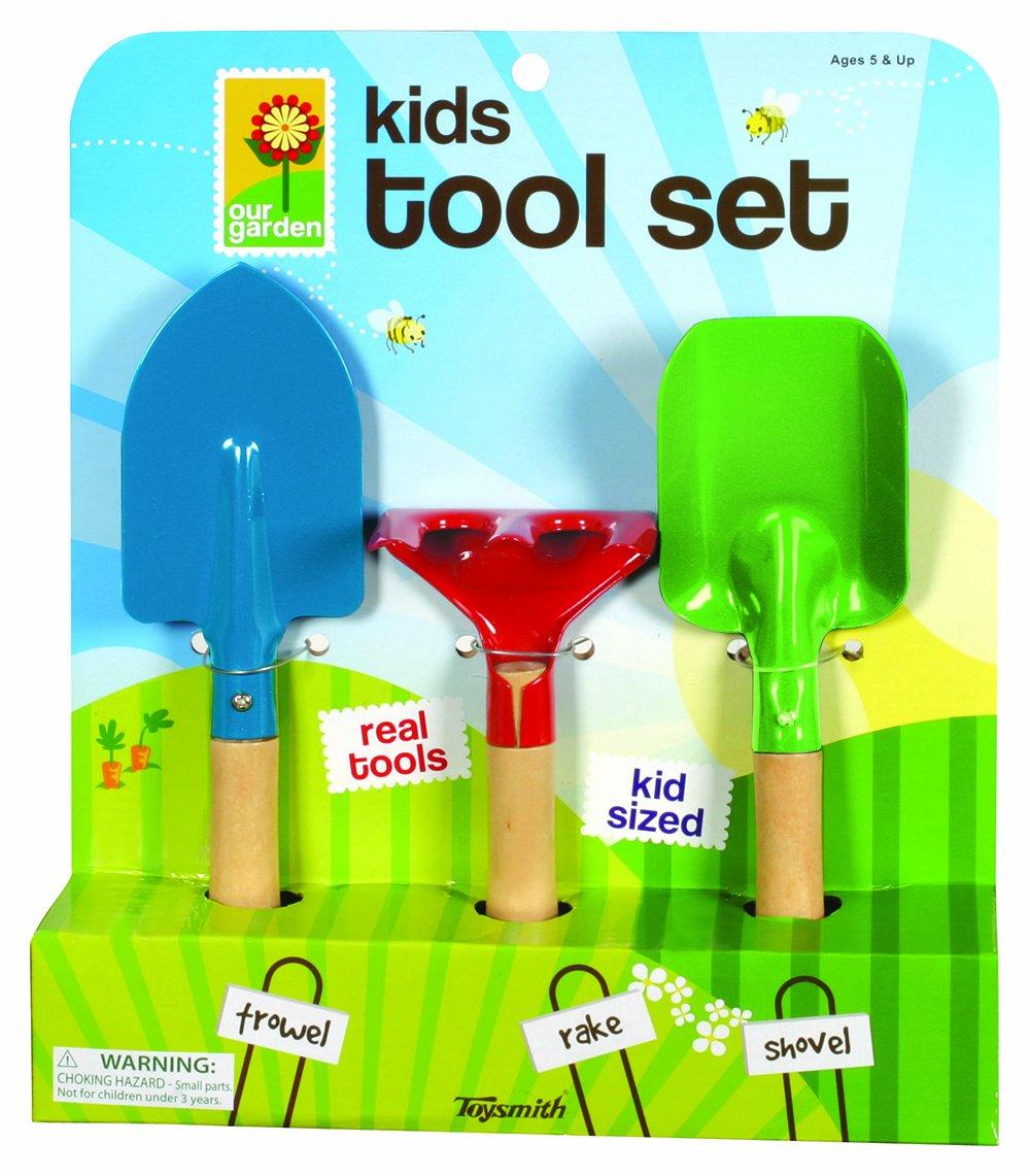 Toysmith Kids 3-Piece Garden Tool Set