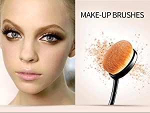 Oneleaf Super Soft 6Pcs Oval Toothbrush Makeup Brushes Set Cream Contour Powder Concealer Foundation Cosmetics Tool