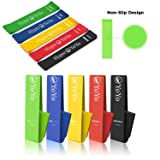 Hyper YoYo Resistance Bands Non Silp Booty Loop Exercise Bands for Leg and Butt Workout Yoga Fitness Bands with Instruction Guide, Carry Bag and Meal Guide, Set of 5 (Tamaño: Set of 5)
