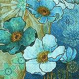 20 Servietten Harmony in Blue - Blaue Harmonie