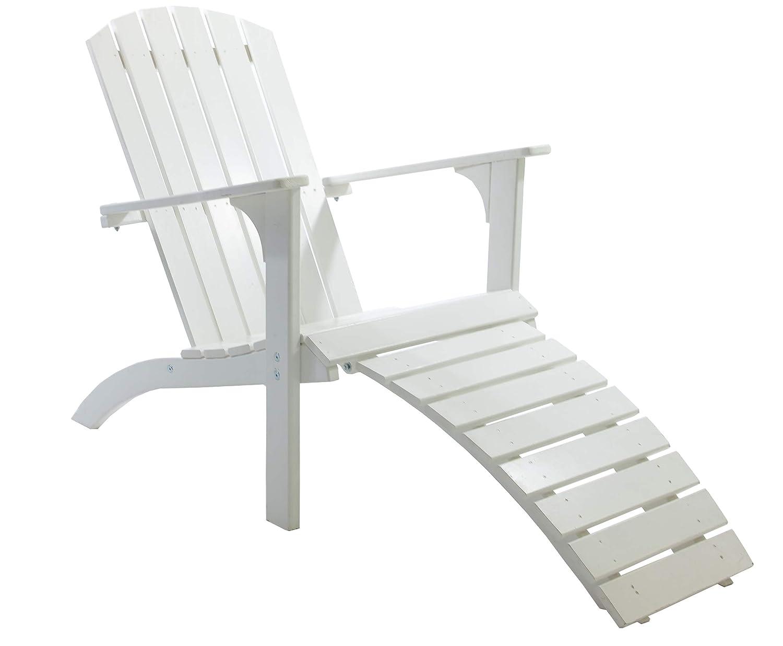 GARDENho.me Nordischer ADIRONDACK Chair Falun Massivholz, Deckchair, 5 Farbvarianten Weiß günstig online kaufen