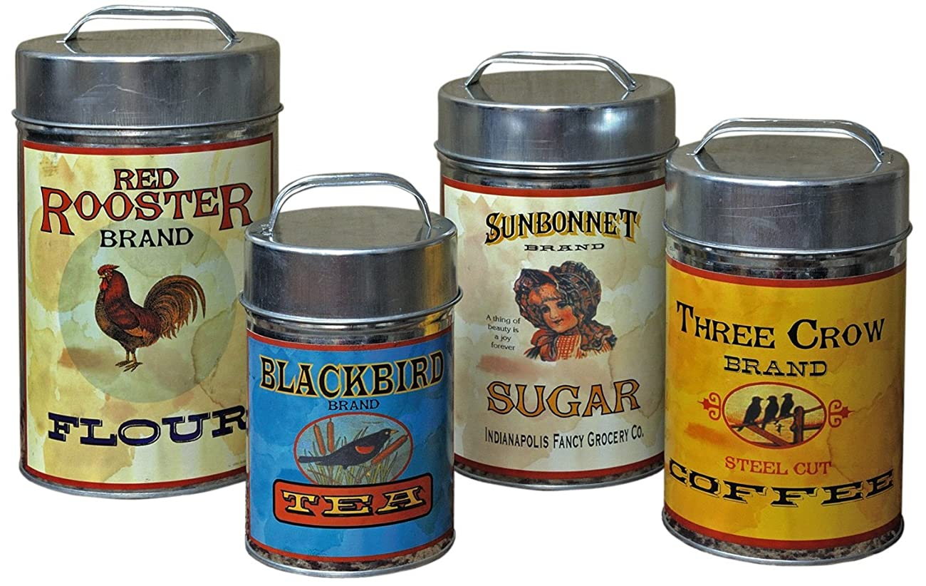 Vintage Canisters: Sugar, Flour, Coffee, Tea by Unknown 0