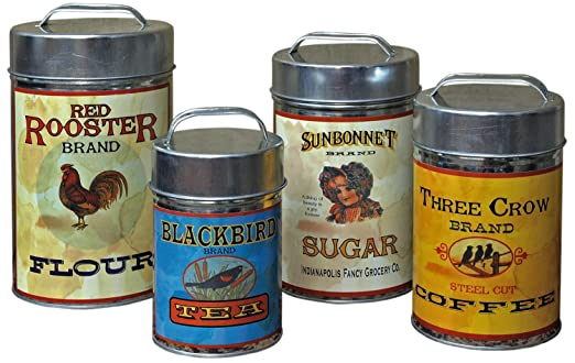 Flour Sugar Tea Canisters Sugar Flour Coffee Tea