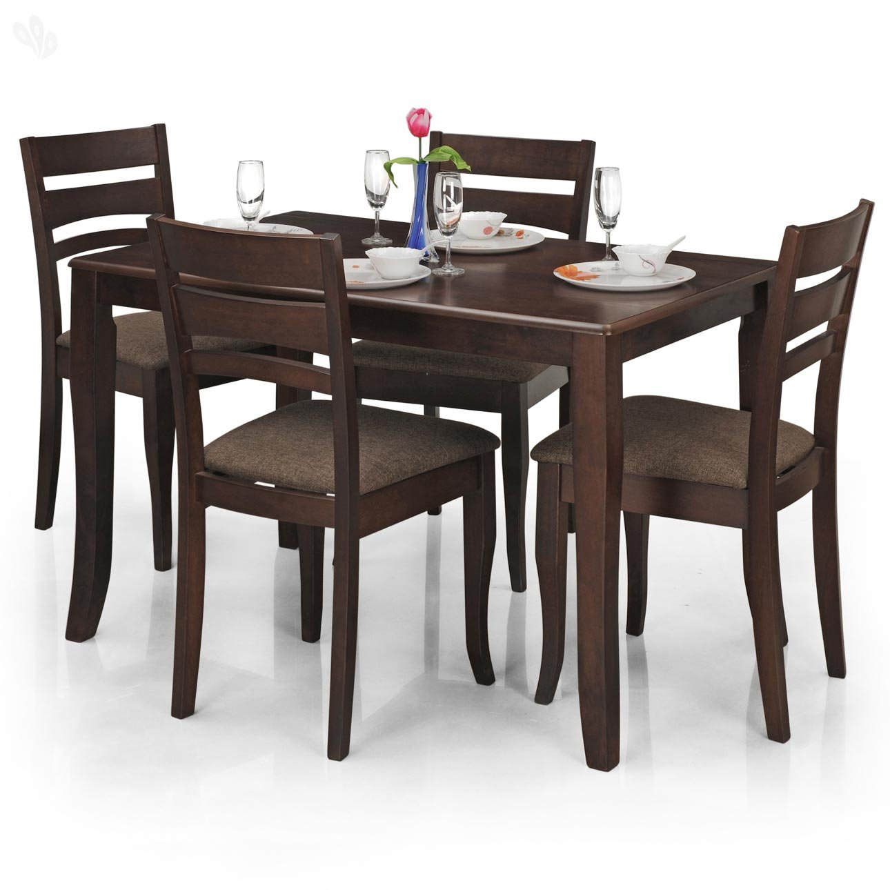 Tables and chairs price list for Dinner table set for 4