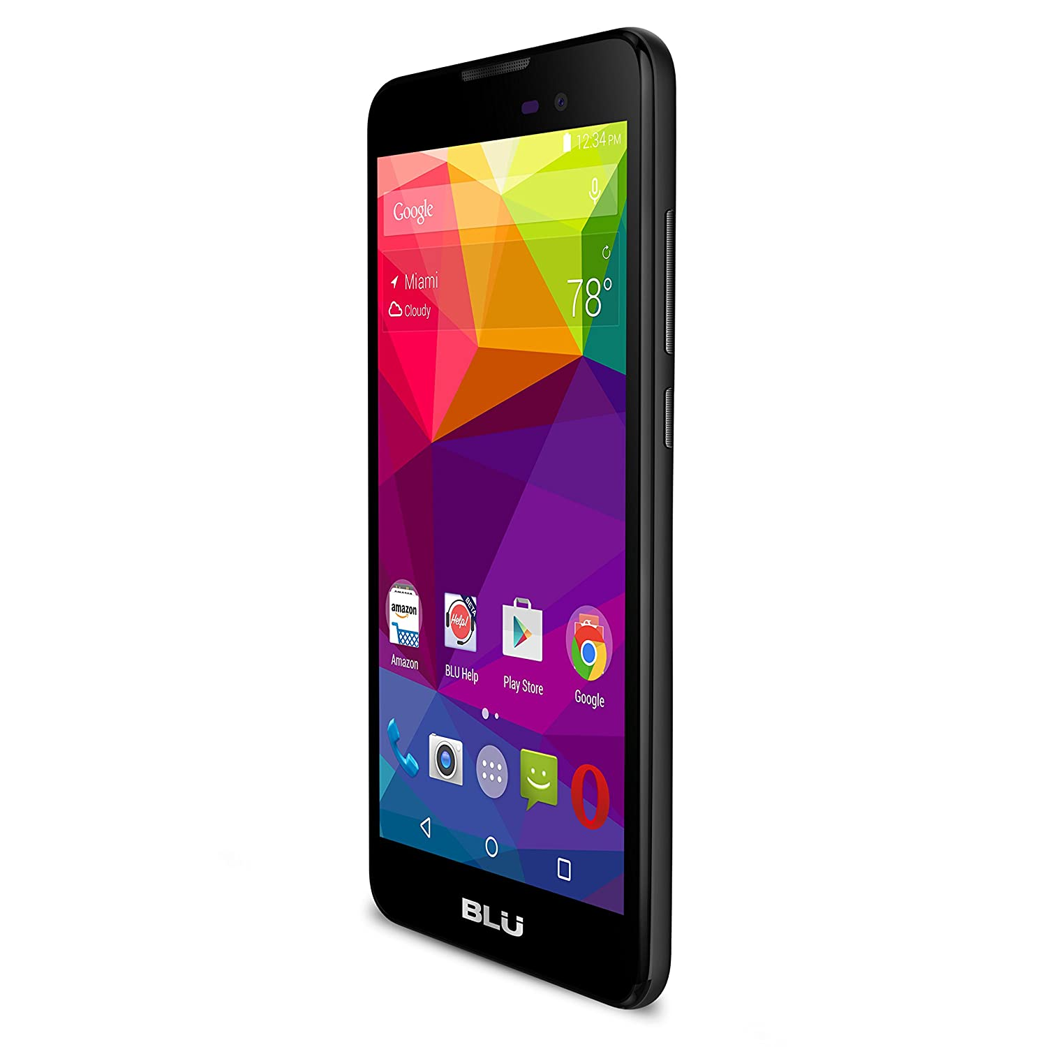 "BLU Dash M - 5.0"" Smartphone - Global GSM Unlocked - Black"