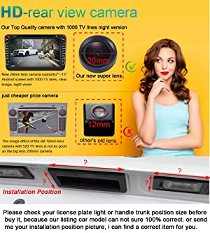 Super HD CCD Sensor Vehicle 20mm 170 Wide Angle Night Vision Rear View IP68 Reverse Backup Camera for Hyundai IX35 I35 Tucson 2015 2015 2016 (No.9175 with 1 Screw Hole) (Color: No.9175 with 1 screw hole)