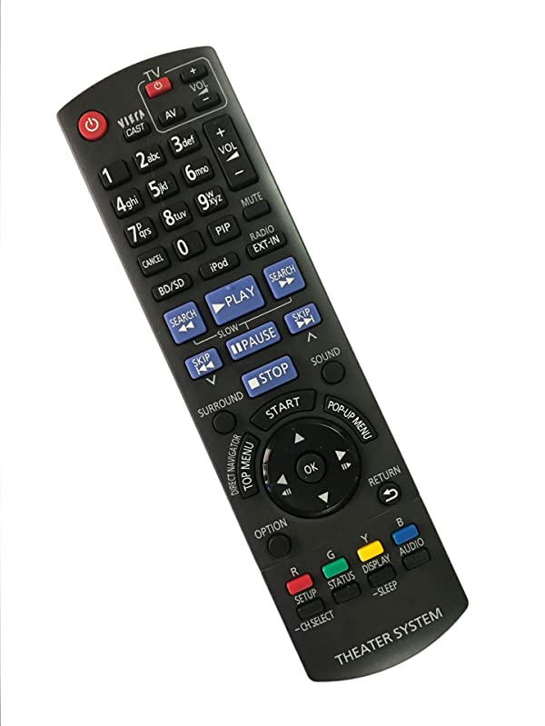 Replacement Remote Controller use for SA-BT200 SC-BT203 SC-BT300 SC-BT303 N2QAKB000072 Panasonic Blu-Ray Home Theater Systems