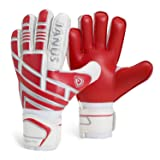 Professional Youth Adult Soccer Football Goalie Goalkeeper Gloves Strong Grip for The Toughest Saves (Red, 8) (Color: Red, Tamaño: 8)