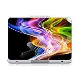 Laptop VINYL DECAL Sticker Skin Print Sticker Skin Print Multi Colored Smoke Vape Wisps Curls Fire Printed Design fits ThinkPad Ultrabook x1 Carbon 14in.
