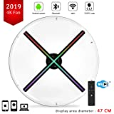 4K 3D Hologram Fan with Four-Axil Holographic Fan Detachable Blades,1080P Hi-Resolution and WiFi Added - Holographic Projector Fan, Upload by APP and TF Card,Support iOS Android Windows (Color: 3d holographic fan)