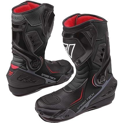 Modeka sPEED tECH bottes de moto en cuir pour homme noir