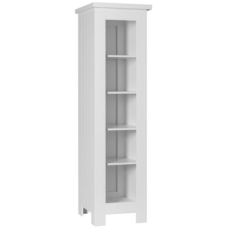 Kinder Bücherregal Regal Kinderzimmerregal BARCELONA schmal 52x56x185cm (weiß) günstig bestellen