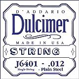 D'Addario J6401 Plain Steel Dulcimer Single String, .012