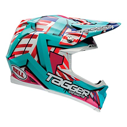 Bell Casques 7060924 MX 2015 Moto-9R Tagger Trouble Adult Casque, Large