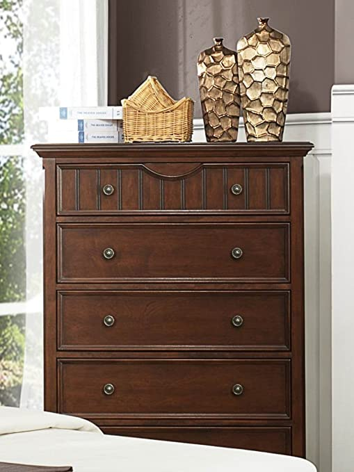 Alyssa 5 Drawer Chest Finish: Warm Cherry