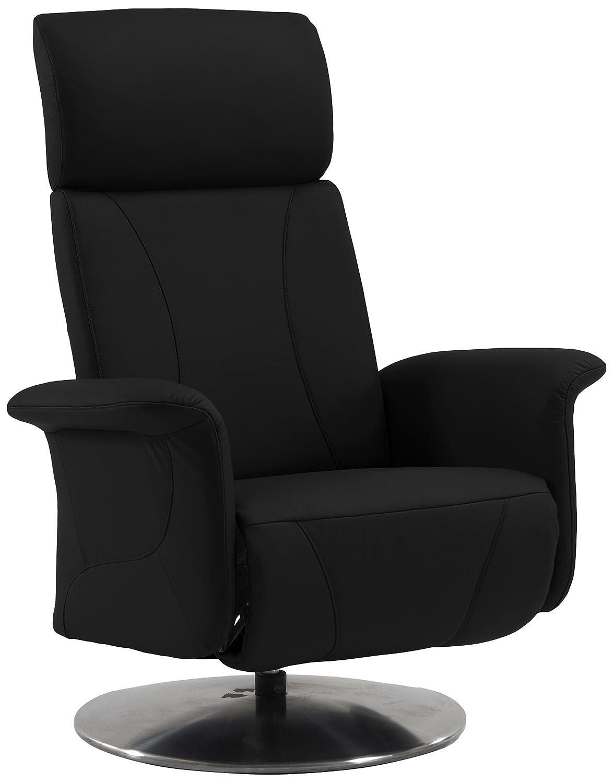 Sino-Living SE-813 Relax- und Ruhesessel in Dickleder, schwarz mit motorischer Verstellung