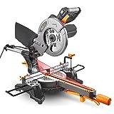 Miter Saw with Laser, TACKLIFE 12.5-Amp 4500RPM 8-1/2'' Single-Bevel Compound Sliding Miter Saw, 7.87