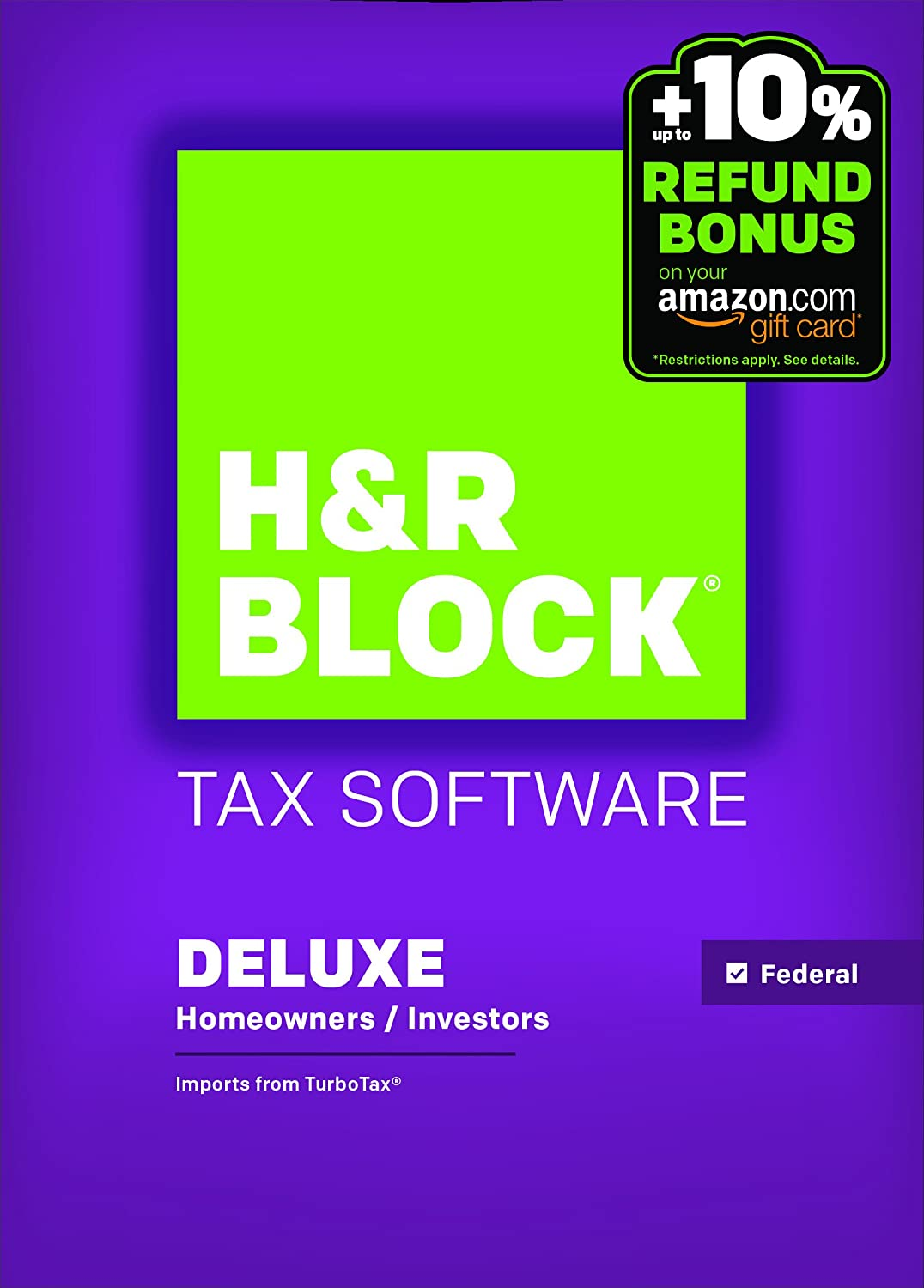 H&R Block 2015 Deluxe Tax Software + Refund Bonus Offer - Windows Download