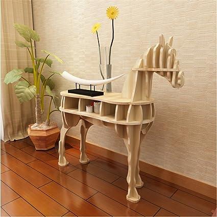 WSZYD Creativa de los animales en forma de tabla de suelo consola lateral decoración del hogar del caballo una decoración de ventanas cuantos accesorios 130 * 42.5 * 120cm ( Color : Fescue )