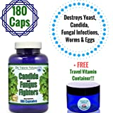 YEAST & CANDIDA CLEANSE With Probiotics & 11 Herbs * 3 Month Supply * + 3 FREE Gifts - Booklet by Candida Doctor + Limited Time $20 Candida Formulation Offer + Travel Jar