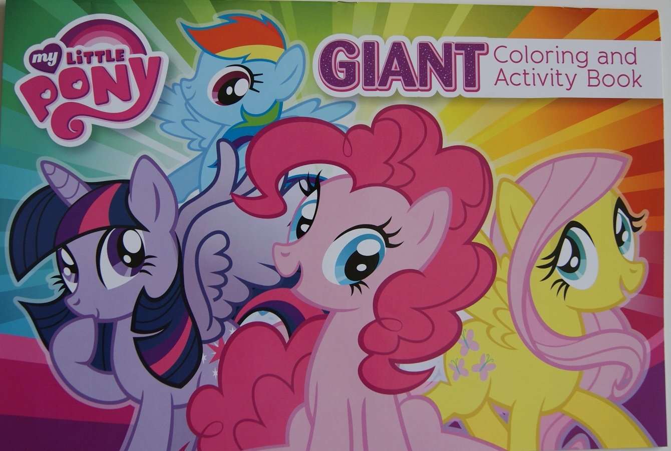 My Little Pony Giant Coloring and Activity Book my counting sticker activity book