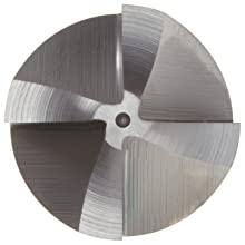 Niagara Cutter CRE124 High-Speed Steel End Mill, TiCN Coated, 4 Flutes, Radiused-Corner End