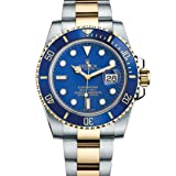 Rolex Submariner Stainless Steel Yellow Gold Watch Blue Ceramic Watch 116613 (Color: 18K Yellow Gold & Steel)