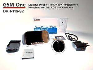 TÜRSPION DRH115S2 von GSMOne mit Bewegungserkennung,Komplettpaket 4GB Speicherkarte von GSMOne  BaumarktKundenberichte und weitere Informationen