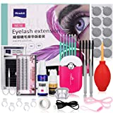 Pro 21 Pcs Eyelash Extension Kit, Mcwdoit Professional False Lashes Eyelashes Extension Practice Set Tools Lash Starter Kit Eyelash Grafting Training Tool for Makeup Practice Eye Lashes Graft (Tamaño: False Eyelashes Extension kit)