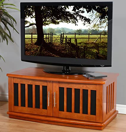 PLATEAU LSX-D 42 W Wood TV Stand, 42-Inch, Walnut Finish