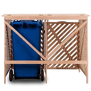 coffre de rangement rangement pour 2 poubelles en bois cuisine maison maison. Black Bedroom Furniture Sets. Home Design Ideas