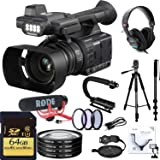 Panasonic AG-AC30 Full HD Camcorder with Touch Panel LCD Viewscreen and Built-in LED Light Deluxe Combo