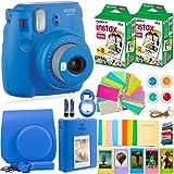 DEALS NUMBER ONE Fujifilm Instax Mini 9 Camera with Fuji Instant Film (40 Sheets) & Accessories Bundle Includes Case, Album, Selfie Lens, and More (Color: Cobalt Blue)