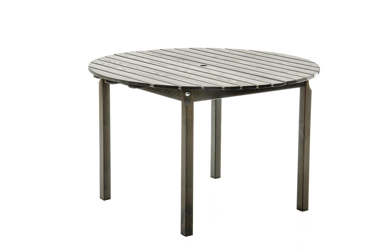 Ambientehome Esstisch, Gartentisch, Holztisch Stranda, rund, 114 cm, taupegrau online kaufen