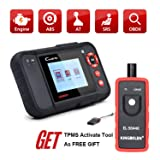 LAUNCH Creader VII+ (CRP123) Code Reader Engine/Transmission/ABS/SRS OBD2 Scan Tool + TPMS Activation Tool EL-50448 As Gift (Tamaño: VII+&EL-50448)