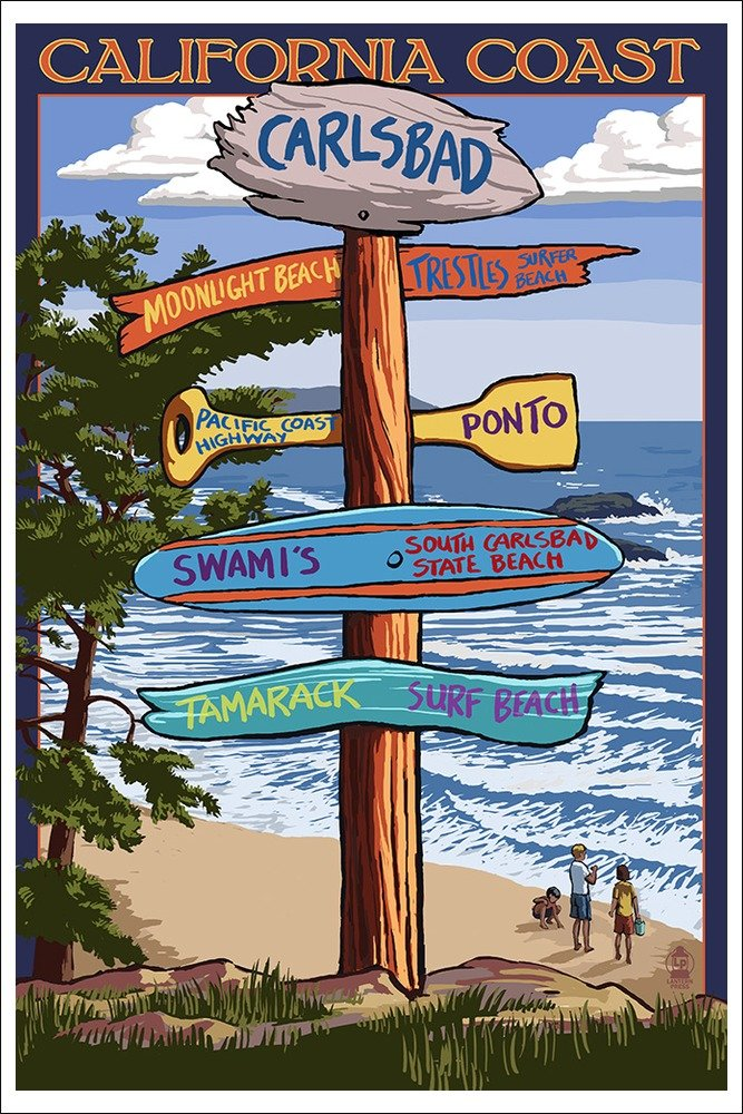 Carlsbad, California - Destination Sign