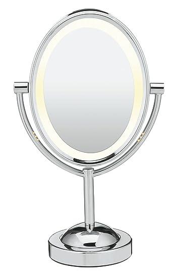 Shoptagr Conair Oval Double Sided Lighted Makeup Mirror