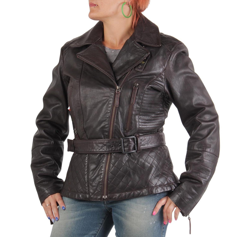 BLAUER USA Damen Winter Lederjacke Dark Brown 0693 online bestellen