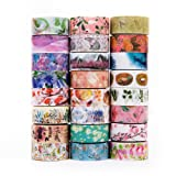 Washi Tape Set of 24,Decorative Washi Masking Tapes for Parties DIY Crafts and Gift Wrapping