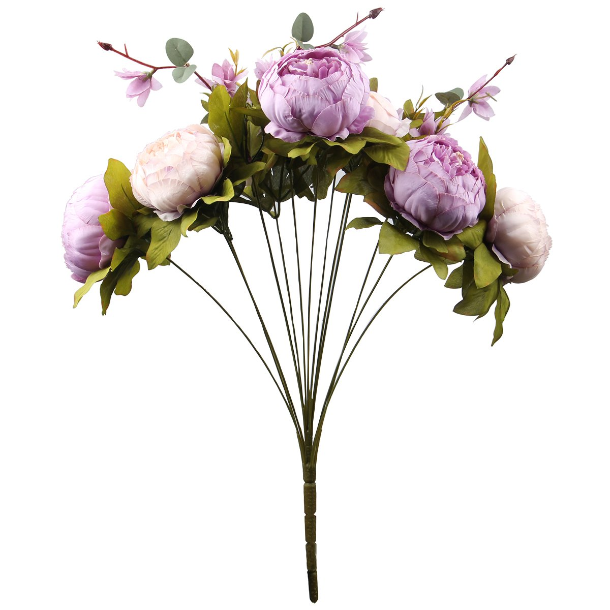 Leagel fake flowers vintage artificial peony silk flowers bouquet leagel fake flowers vintage artificial peony silk flowers bouquet wedding home decoration pack of 1 new izmirmasajfo